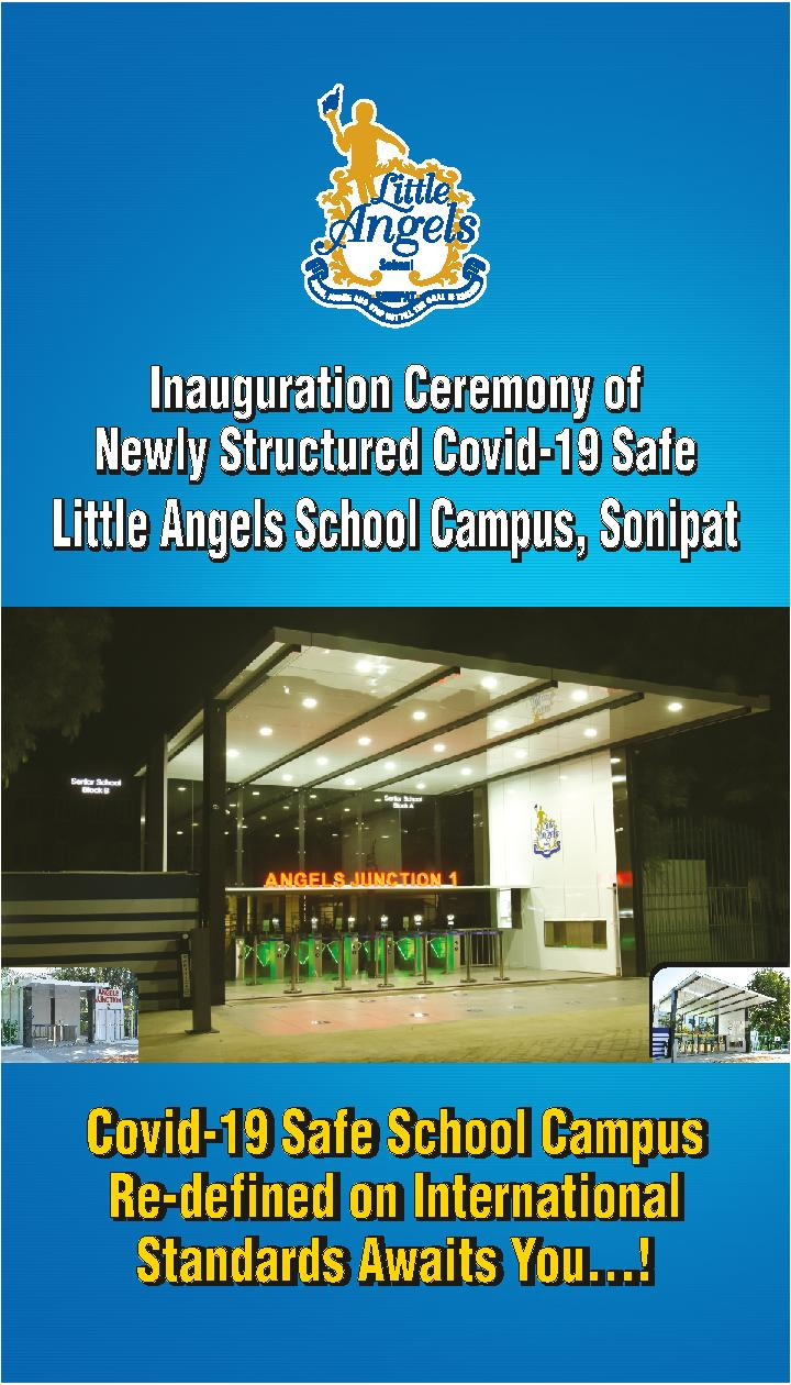 HON'BLE MINISTER OF EDUCATION, GOVT. OF INDIA, DR RAMESH POKHRIYAL 'NISHANK' INAUGURATED THE NEWLY STRUCTURED COVID-19 SAFE 'ANGELS JUNCTION' VIRTUALLY